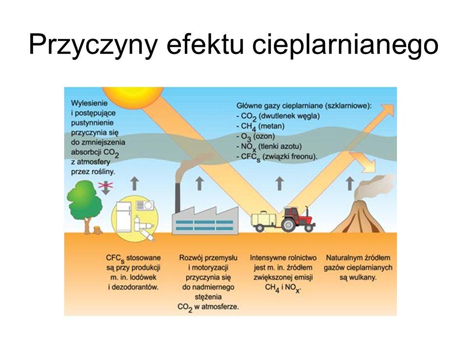 Przyczyny efektu cieplarnianego