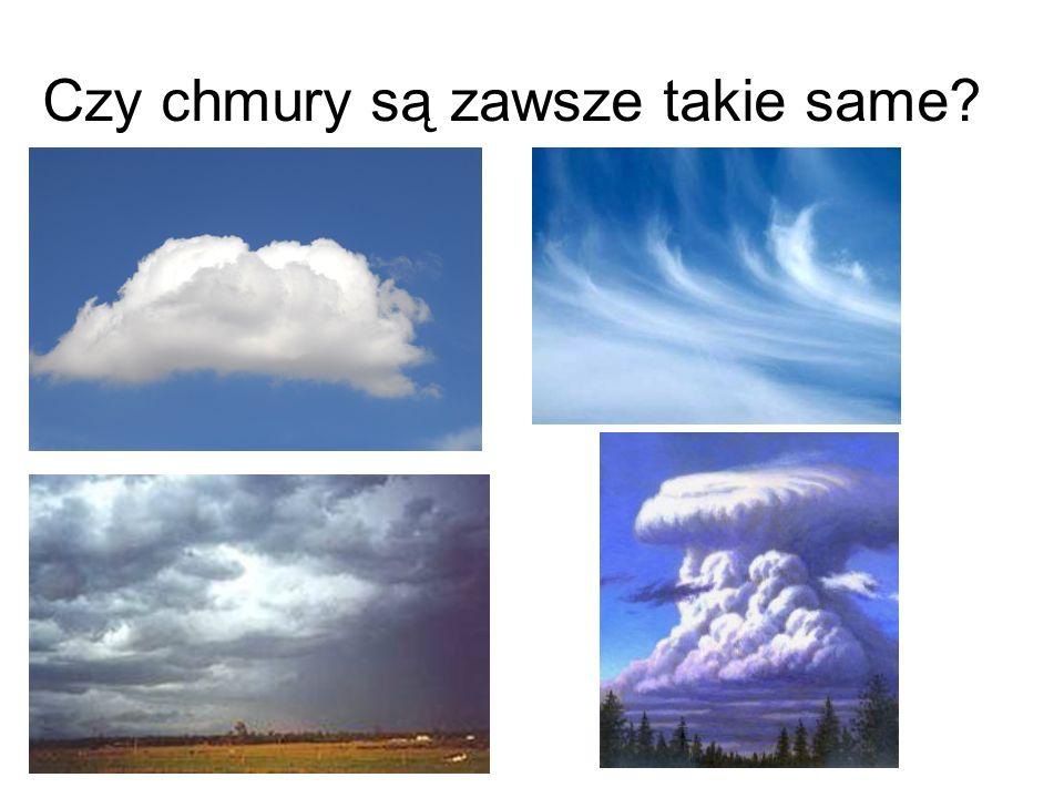 Czy chmury są zawsze takie same?