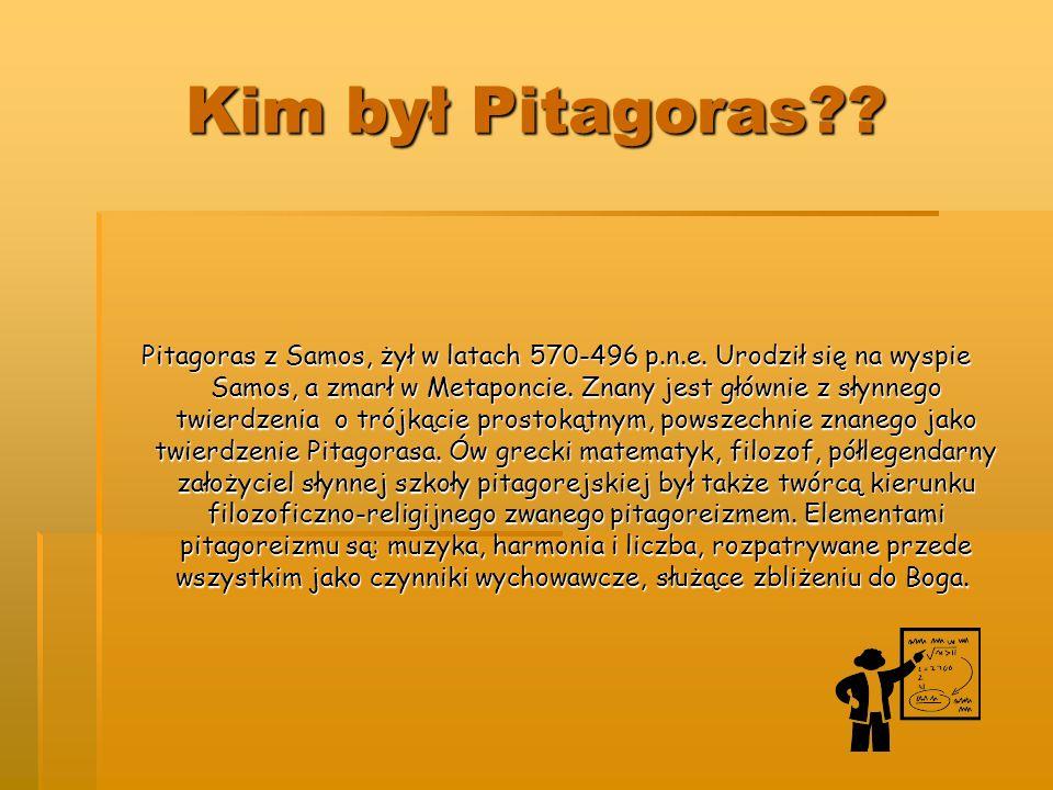 Pitagoras Twierdzenie Pitagorasa Pitagorejczycy
