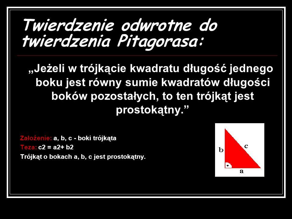Dowód przez podobieństwo ( szkolny) - Jest to jeden z dowodów podanych przez Euklidesa, wykorzystuje on p p p p p oooo dddd oooo bbbb iiii eeee ńńńń s