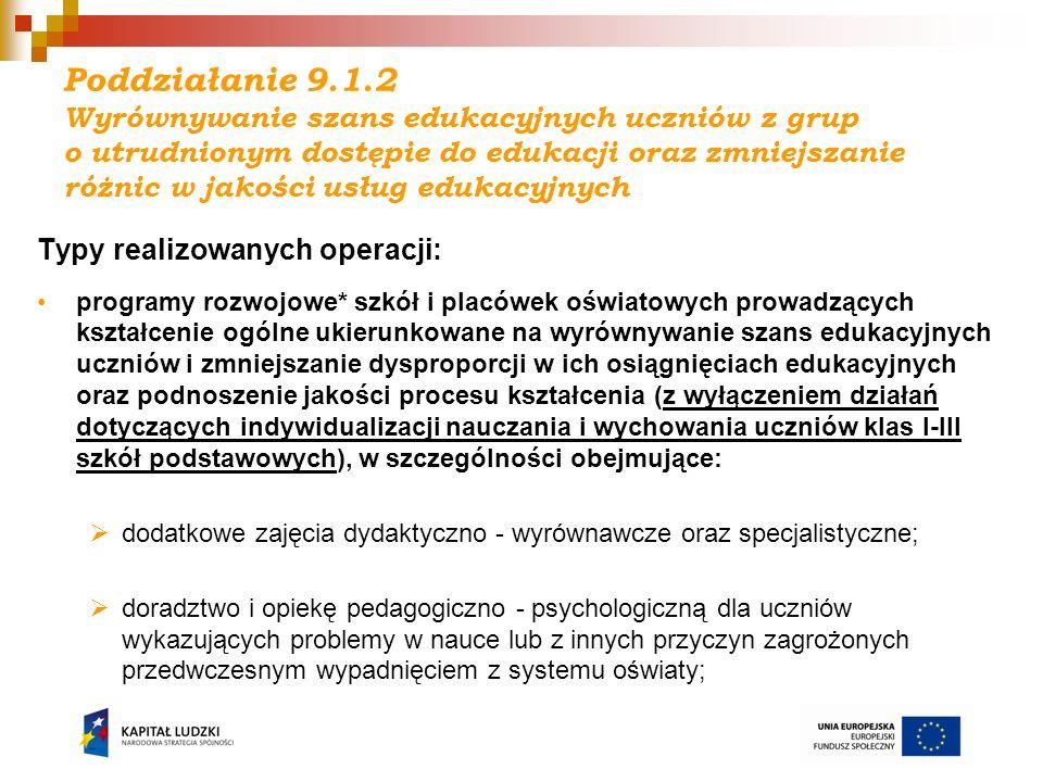 I - Działanie 9.4 Ogłoszenie konkursu i nabór wniosków: 20 kwietnia 2011 r., nabór trwa do 20 maja 2011 r.