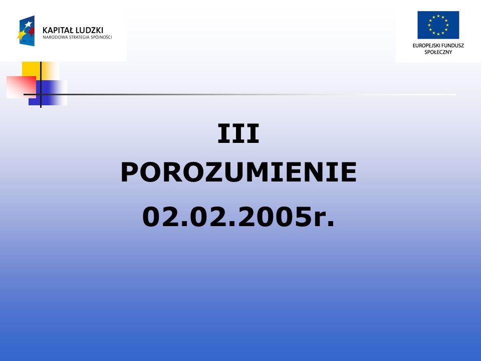 III POROZUMIENIE 02.02.2005r.