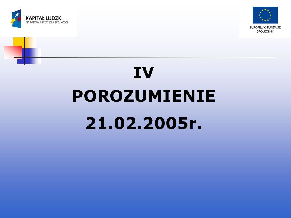 IV POROZUMIENIE 21.02.2005r.
