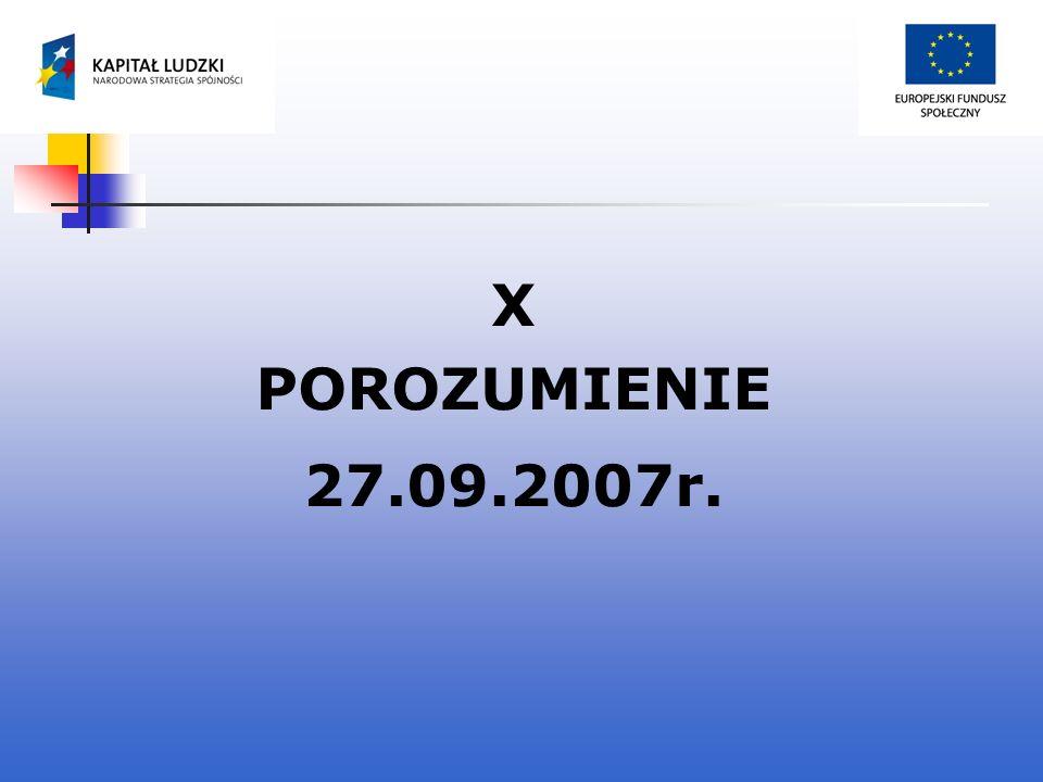 X POROZUMIENIE 27.09.2007r.