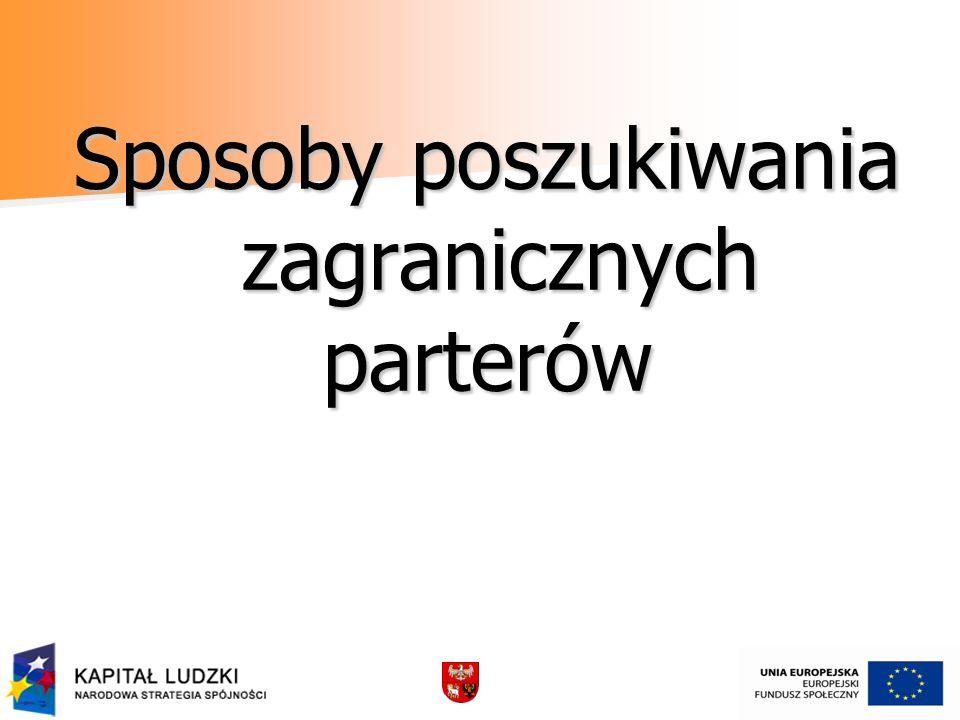 - Możliwości jakie stwarzają ponadnarodowe partnerstwa.
