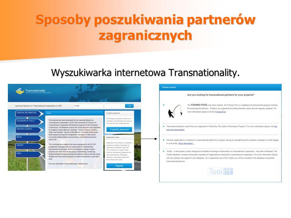 Sposoby poszukiwania partnerów zagranicznych Wyszukiwarka internetowa Transnationality.
