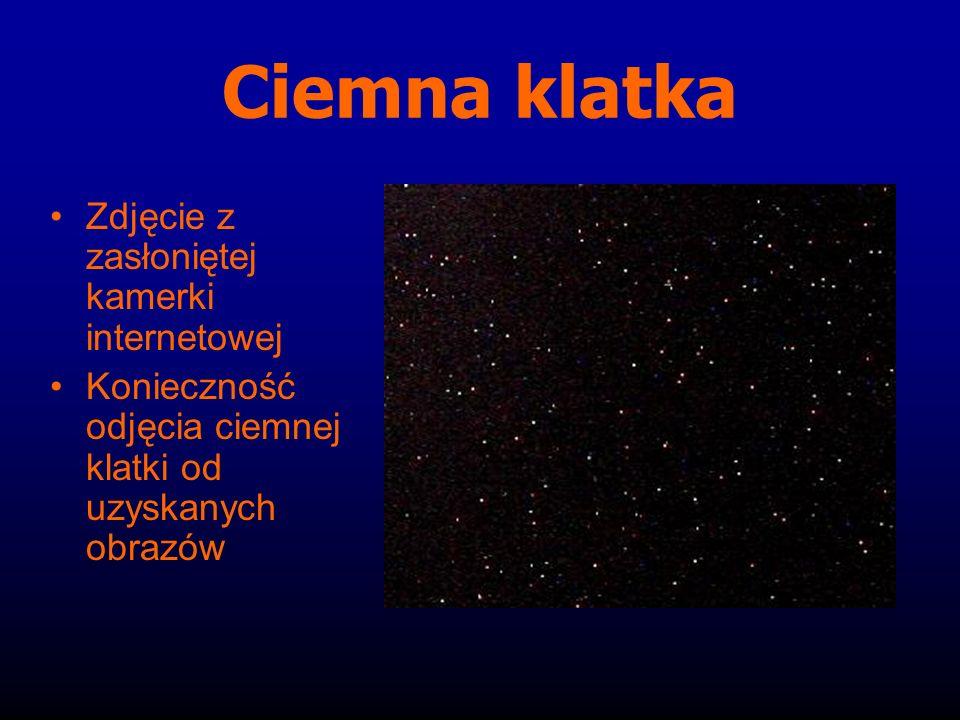 Ciemna klatka Zdjęcie z zasłoniętej kamerki internetowej Konieczność odjęcia ciemnej klatki od uzyskanych obrazów