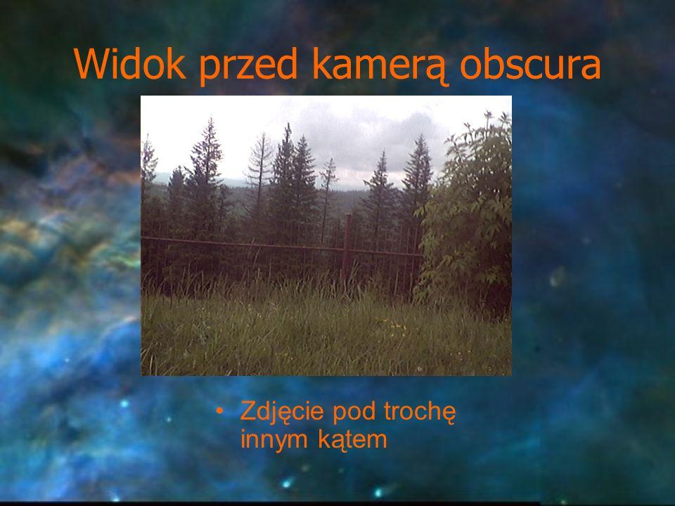 Widok przed kamerą obscura Zdjęcie pod trochę innym kątem