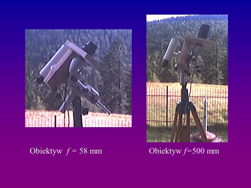 Obiektyw f=500 mmObiektyw f = 58 mm