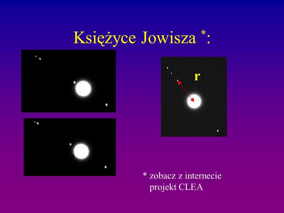 Księżyce Jowisza * : r * zobacz z internecie projekt CLEA