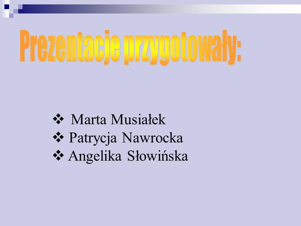 Marta Musiałek Patrycja Nawrocka Angelika Słowińska