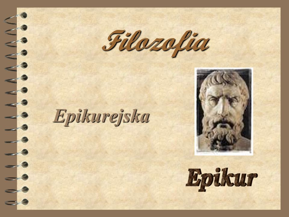 Filozofia Epikurejska