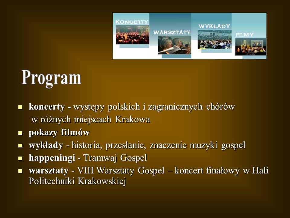 koncerty - występy polskich i zagranicznych chórów koncerty - występy polskich i zagranicznych chórów w różnych miejscach Krakowa w różnych miejscach