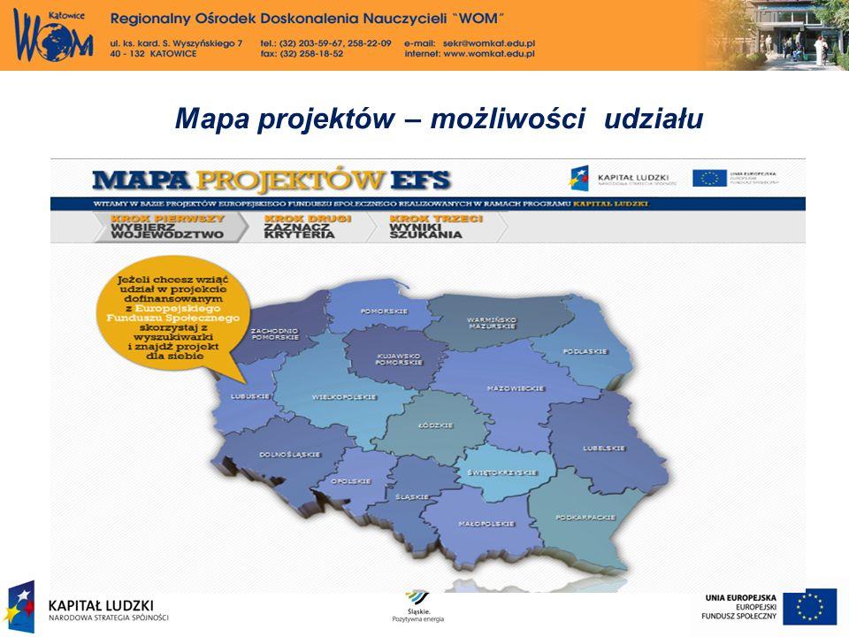 Mapa projektów – możliwości udziału