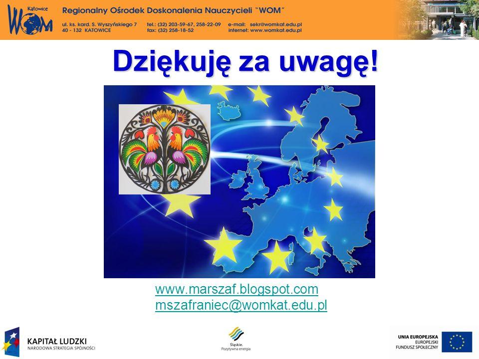 Dziękuję za uwagę! www.marszaf.blogspot.com mszafraniec@womkat.edu.pl