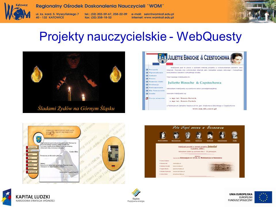 Projekty nauczycielskie - WebQuesty