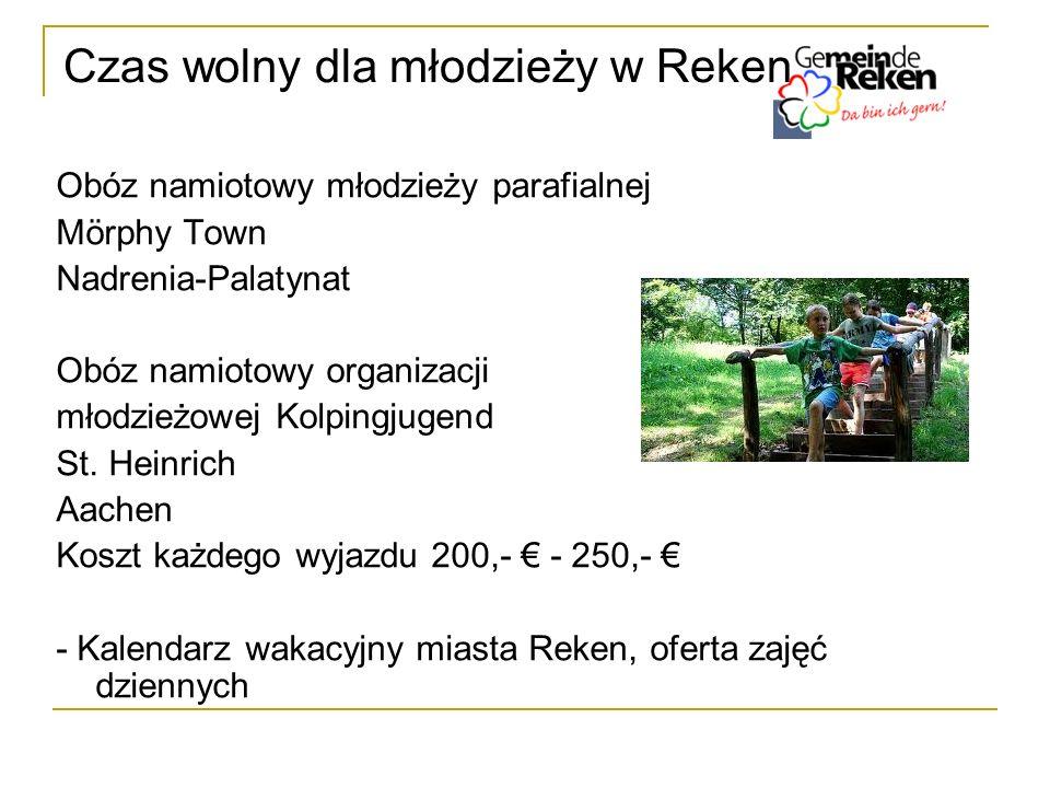 Czas wolny dla młodzieży w Reken Obóz namiotowy młodzieży parafialnej Mörphy Town Nadrenia-Palatynat Obóz namiotowy organizacji młodzieżowej Kolpingju