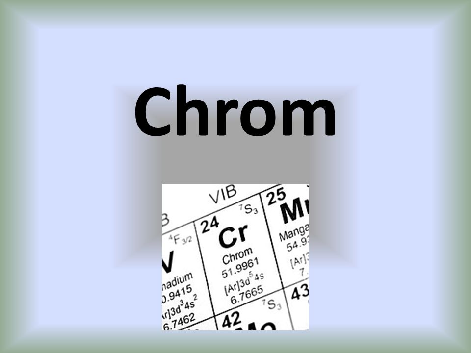 Wodorotlenki Chrom tworzy dwa wodorotlenki.