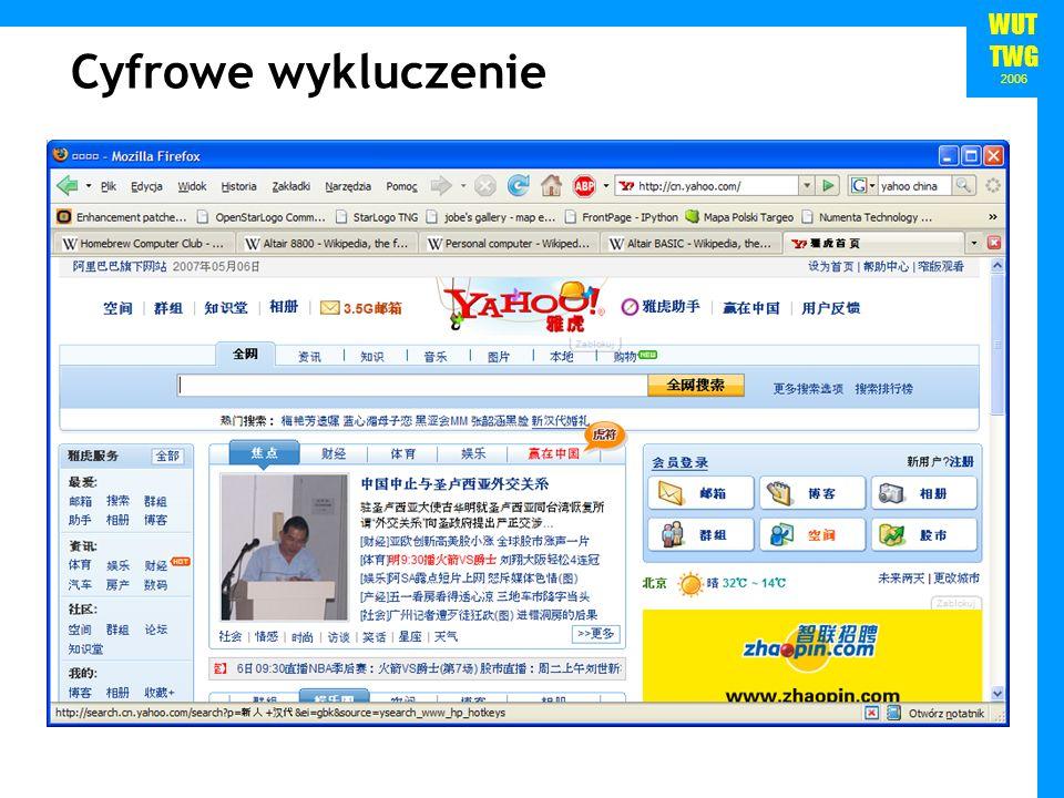 WUT TWG 2006 Cyfrowe wykluczenie