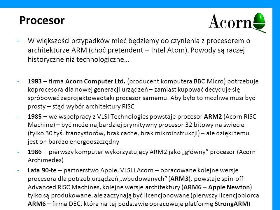 Procesor -Prosta procedura licencyjna oraz dostępność IP w postaci łatwej do integracji z innymi komponentami (np.