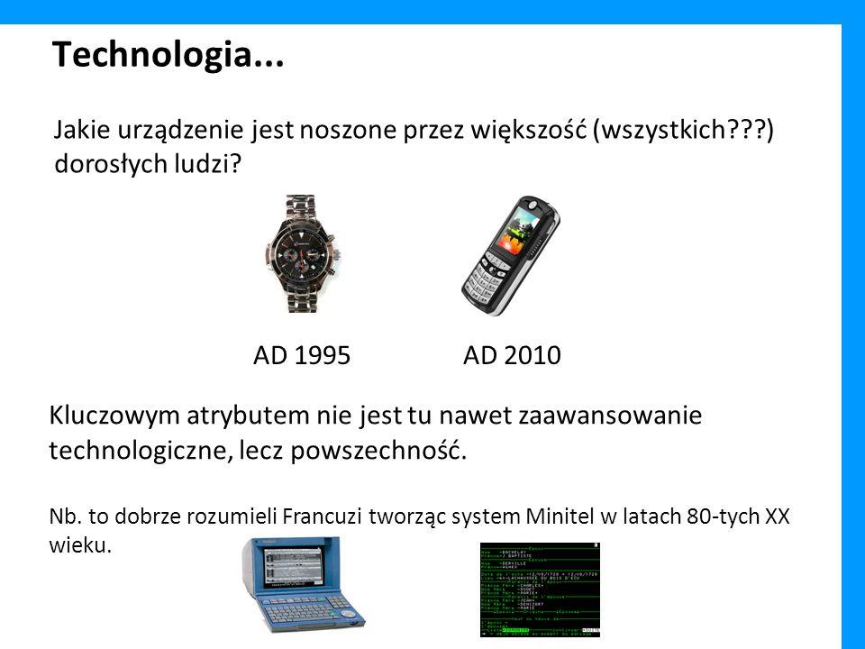 Technologia... Kluczowym atrybutem nie jest tu nawet zaawansowanie technologiczne, lecz powszechność. Nb. to dobrze rozumieli Francuzi tworząc system