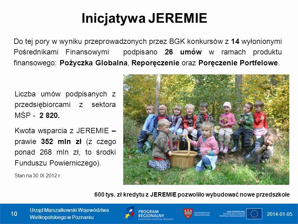 Inicjatywa JESSICA Menadżerem funduszu jest Europejski Bank Inwestycyjny, z którym w dniu 29 kwietnia 2009 r.