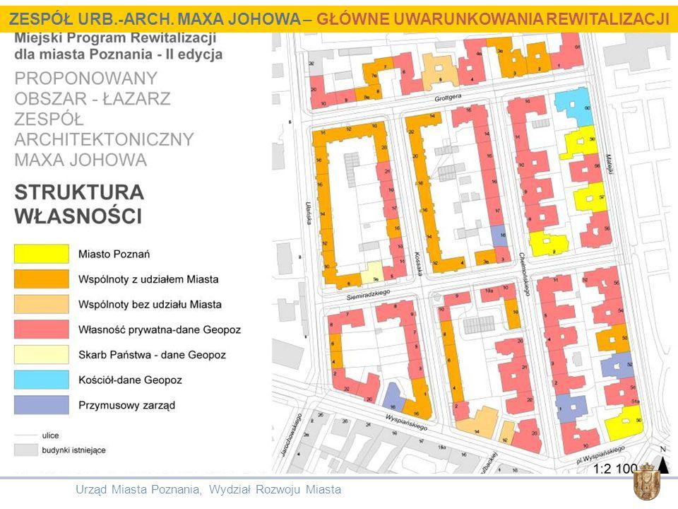 Urząd Miasta Poznania, Wydział Rozwoju Miasta ZESPÓŁ URB.-ARCH. MAXA JOHOWA – GŁÓWNE UWARUNKOWANIA REWITALIZACJI