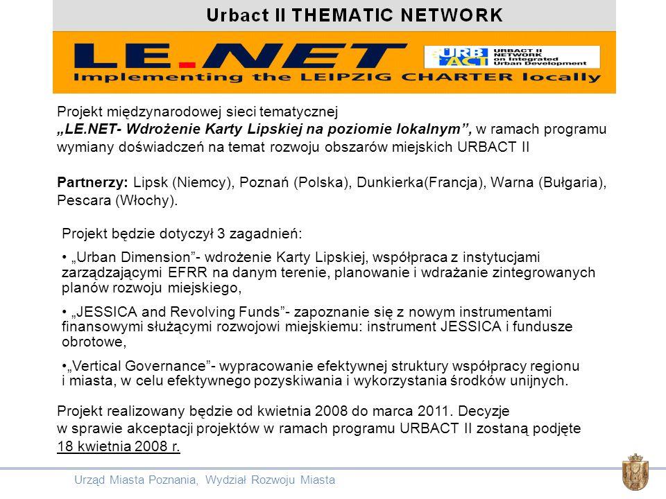 Projekt międzynarodowej sieci tematycznej LE.NET- Wdrożenie Karty Lipskiej na poziomie lokalnym, w ramach programu wymiany doświadczeń na temat rozwoj