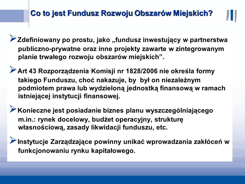 7 Co to jest Fundusz Rozwoju Obszarów Miejskich.