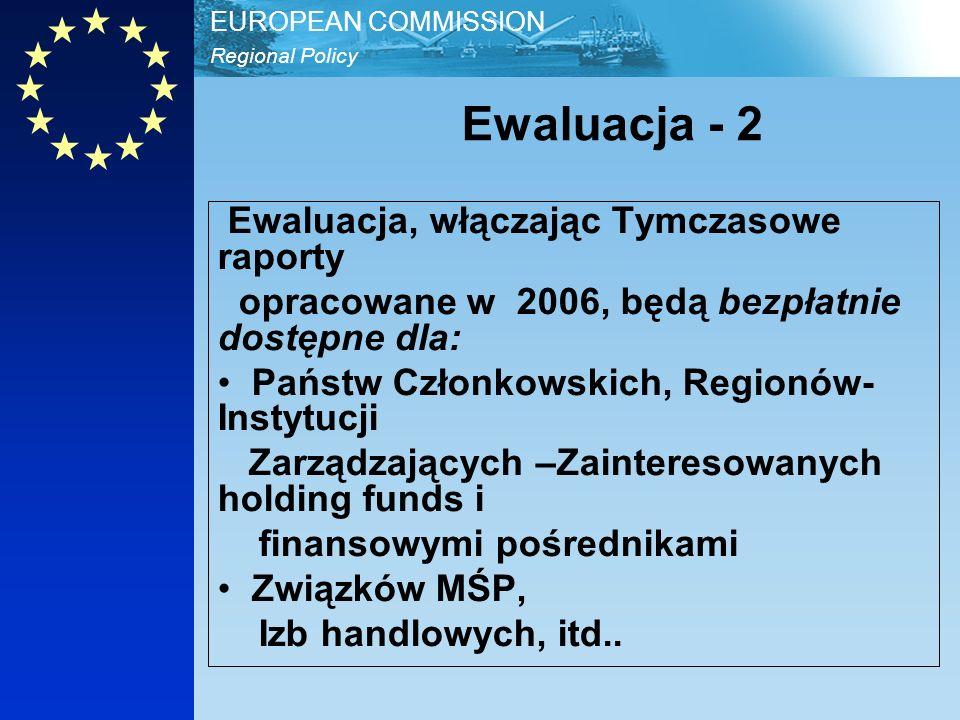 Regional Policy EUROPEAN COMMISSION Kto finansuje Ewaluację.