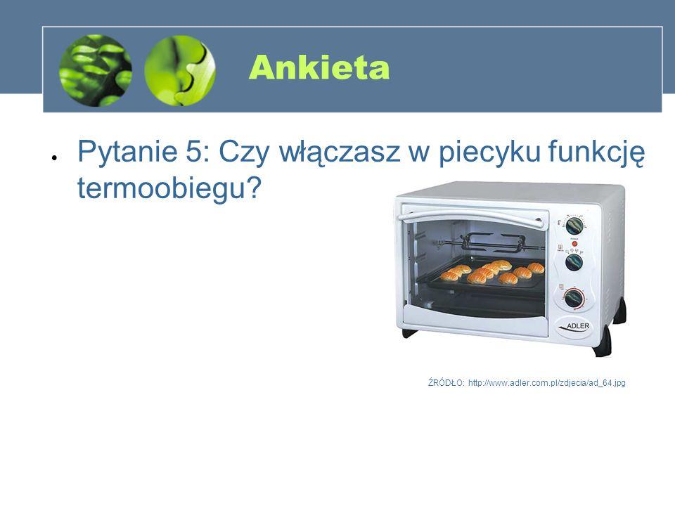 Ankieta Pytanie 5: Czy włączasz w piecyku funkcję termoobiegu? ŹRÓDŁO: http://www.adler.com.pl/zdjecia/ad_64.jpg