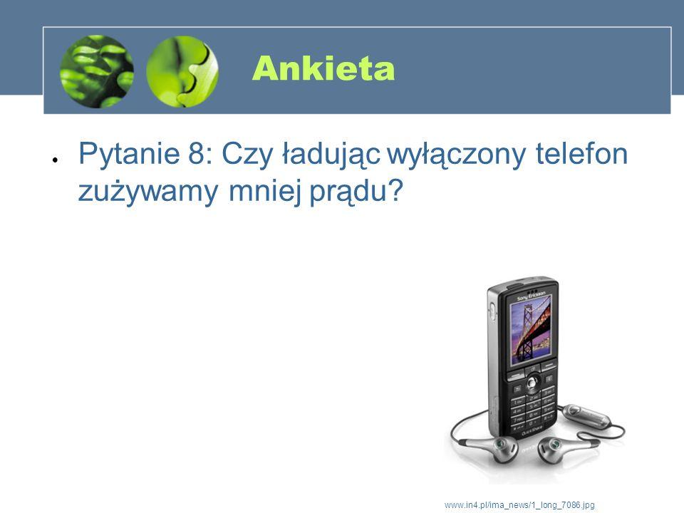 Ankieta Pytanie 8: Czy ładując wyłączony telefon zużywamy mniej prądu? www.in4.pl/ima_news/1_long_7086.jpg