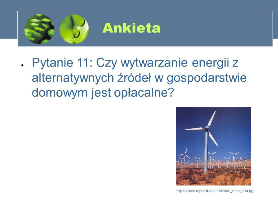 Ankieta Pytanie 11: Czy wytwarzanie energii z alternatywnych źródeł w gospodarstwie domowym jest opłacalne? http://wyooo.republika.pl/pliki/wiatr_x/Im