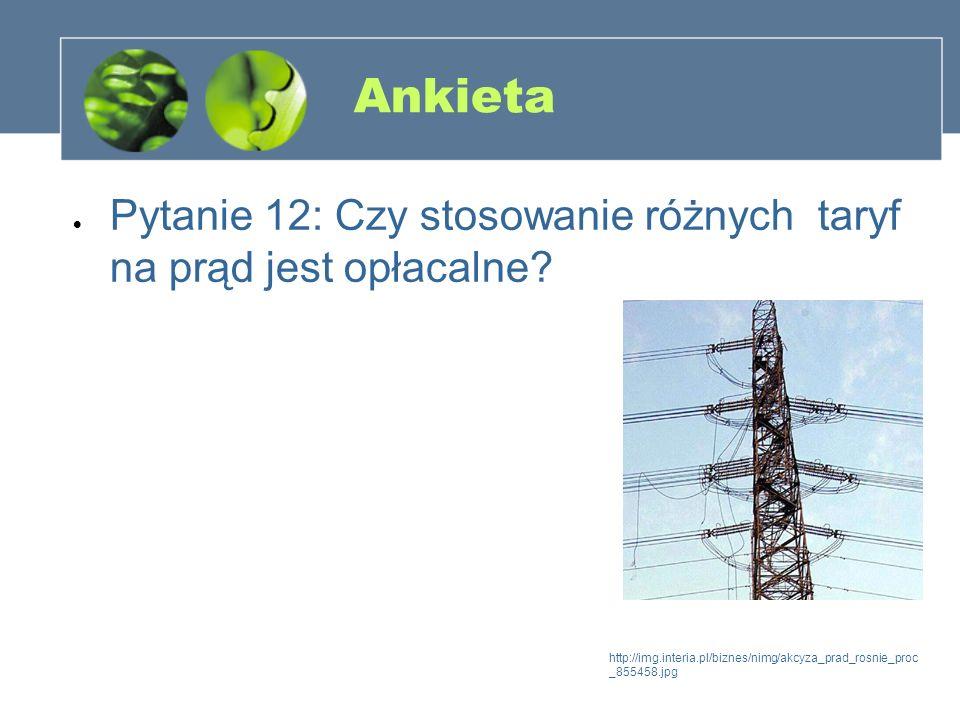 Ankieta Pytanie 12: Czy stosowanie różnych taryf na prąd jest opłacalne? http://img.interia.pl/biznes/nimg/akcyza_prad_rosnie_proc _855458.jpg