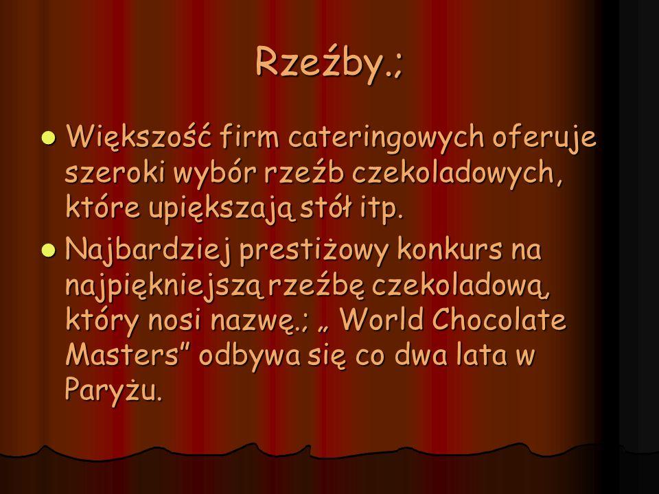 W 2011 roku tytuł.; World Chocolate Master, zdobył Holender, Frank Haasnoot i będzie on mógł posługiwać się tym tytułem przez najbliższe dwa lata.