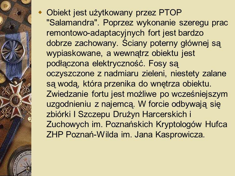 Obiekt jest użytkowany przez PTOP