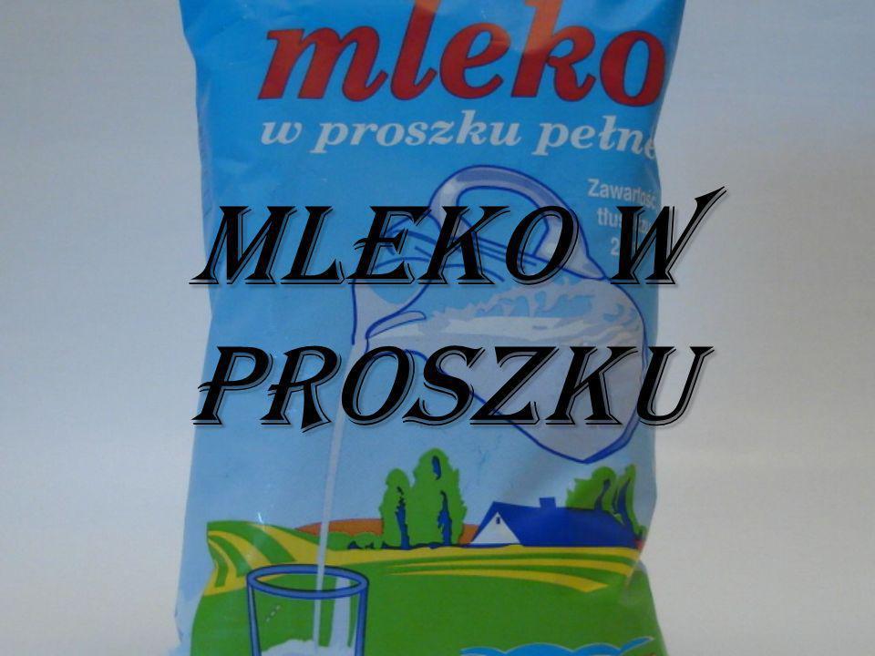 Mleko w proszku spożywcze jest koncentratem produkowanym z mleka na zasadzie prawie pełnego odparowania wody.