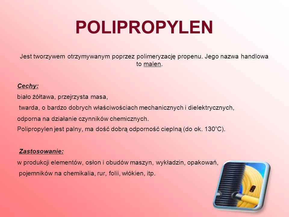 POLISTYREN Produkt polimeryzacji styrenu.Jego nazwy handlowe to owispol, styropol.