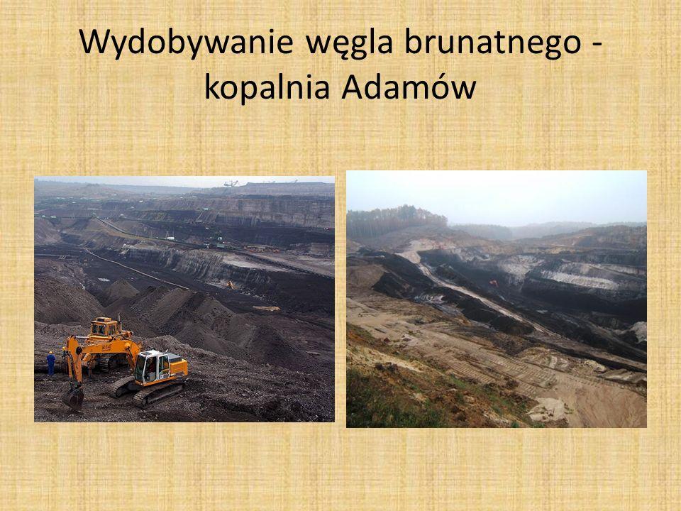 Wydobywanie węgla brunatnego – kopalnia Adamów