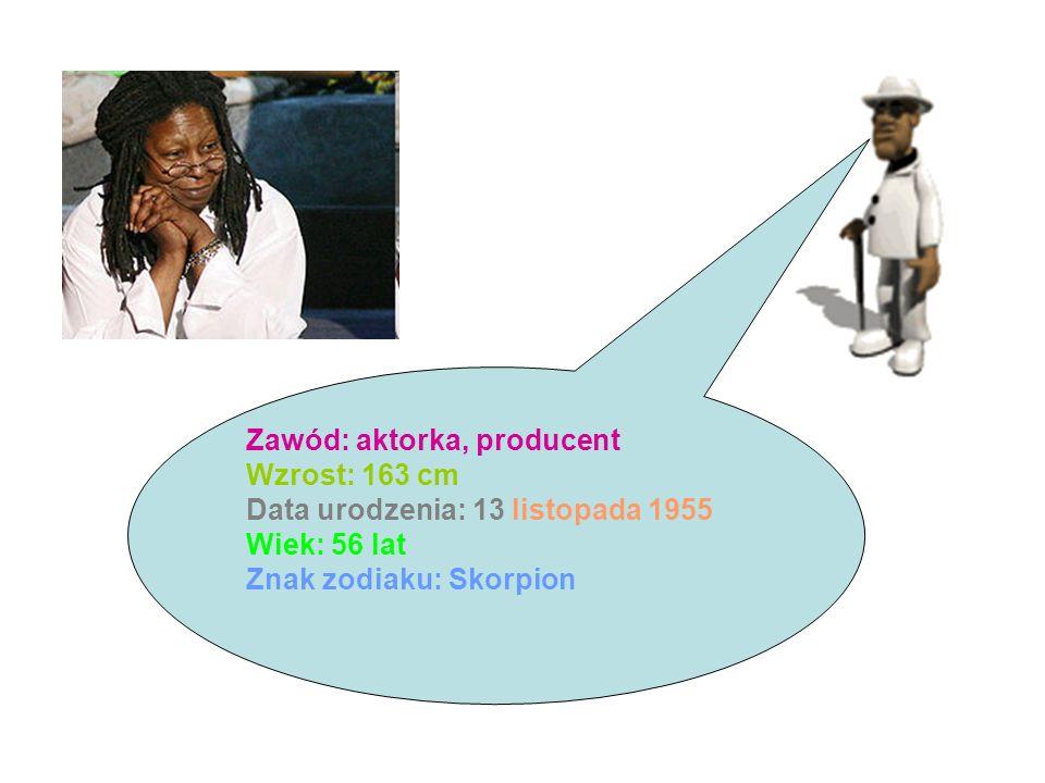 Zawód: aktorka, producent Wzrost: 163 cm Data urodzenia: 13 listopada 1955 Wiek: 56 lat Znak zodiaku: Skorpion