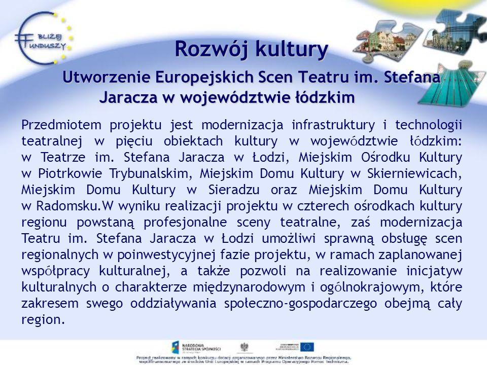 Rozwój kultury Utworzenie Europejskich Scen Teatru im.