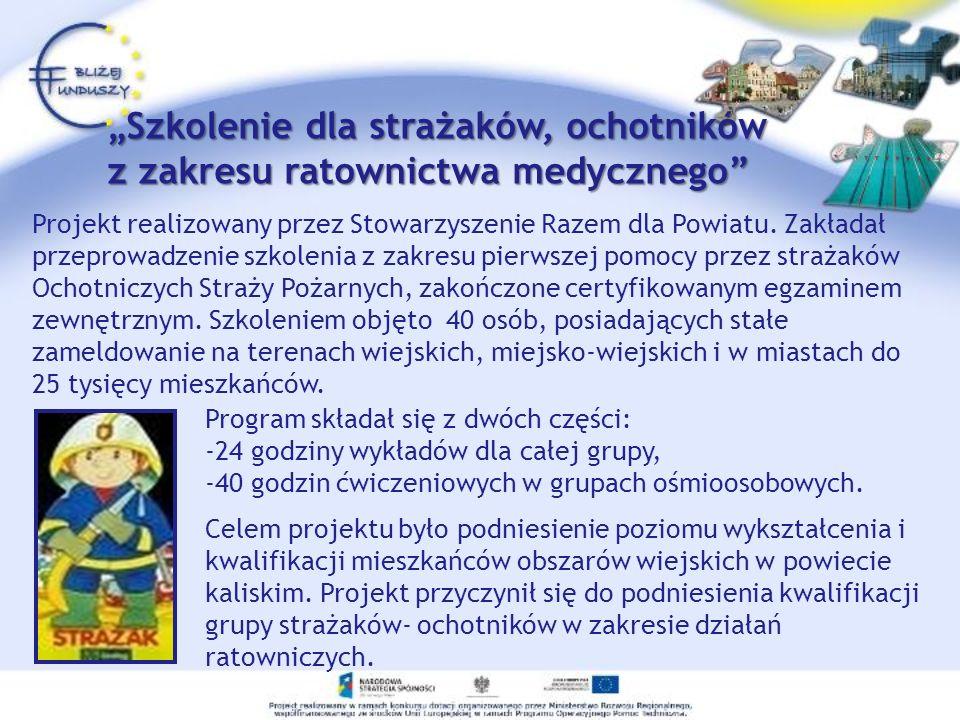 Projekt realizowany przez Stowarzyszenie Razem dla Powiatu.