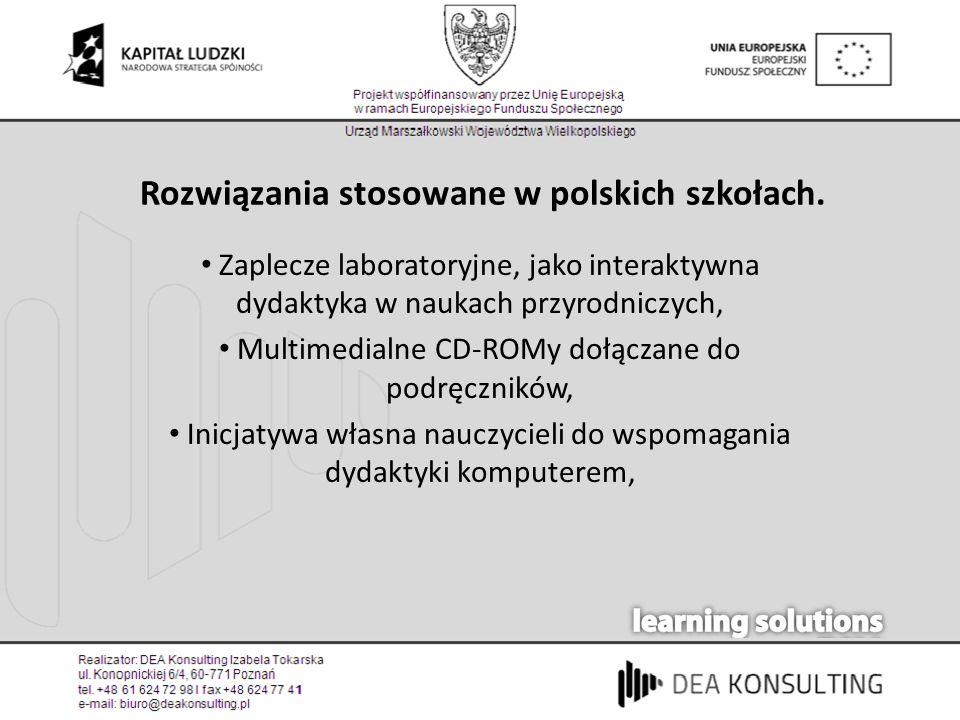 Rozwiązania stosowane w polskich szkołach. Zaplecze laboratoryjne, jako interaktywna dydaktyka w naukach przyrodniczych, Multimedialne CD-ROMy dołącza