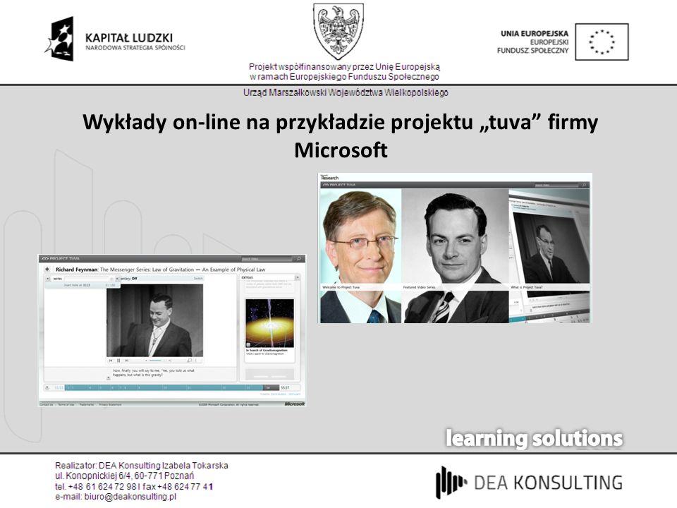 Wykłady on-line na przykładzie projektu tuva firmy Microsoft