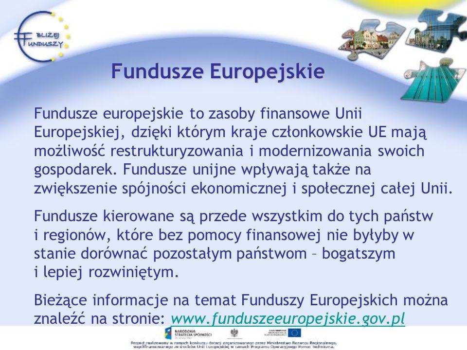 Pomoc Techniczna -Bliżej Funduszy Projekt Bliżej Funduszy uzyskał dofinansowanie w ramach Programu Operacyjnego Pomoc Techniczna 2004-2006.