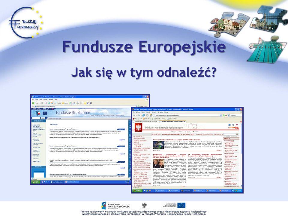 Fundusze Europejskie Jak się w tym odnaleźć?