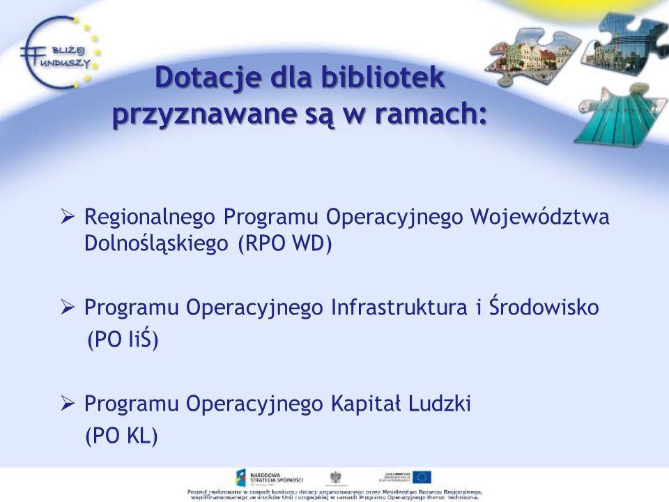 Regionalny Program Operacyjny Województwa Dolnośląskiego (RPO WD) Cel główny: Podniesienie poziomu życia mieszkańców Dolnego Śląska oraz poprawa konkurencyjności regionu przy respektowaniu zasad zrównoważonego rozwoju.