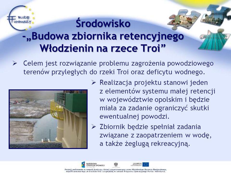 Realizacja projektu stanowi jeden z elementów systemu małej retencji w województwie opolskim i będzie miała za zadanie ograniczyć skutki ewentualnej p