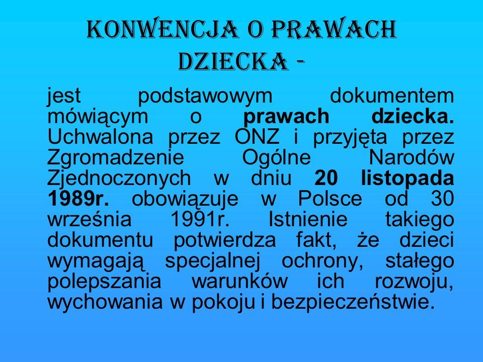 Instytucja Rzecznika Praw Dziecka Funkcję Rzecznika Praw Dziecka w Polsce pełni p.
