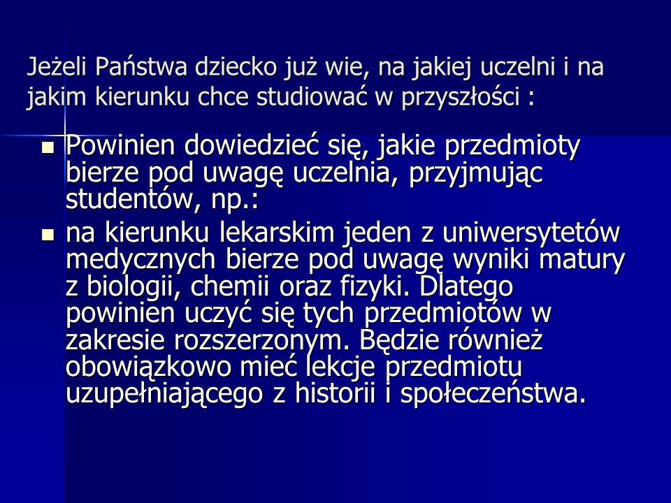 na socjologię jedna z uczelni wyższych bierze pod uwagę wyniki matury z dwóch spośród następujących przedmiotów: geografia, historia, język polski, język obcy, matematyka.
